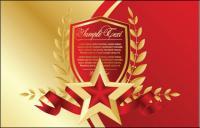 Красная пятиконечная звезда закладки 03