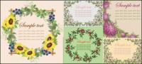 ベクトルの花の罫線