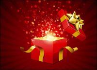 Abrir el regalo del vector