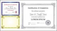 Vetor de modelo de certificado Europeu
