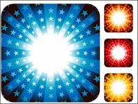 Pola radiasi berwarna-warni vektor