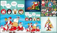 Several cute Christmas theme Vector