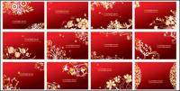 Cartões vermelhos vetor padrão