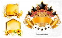 ゴールドの装飾グラフィック ベクトル