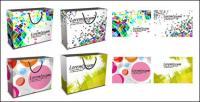 sacs à provisions colorés vecteur