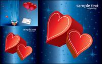 Романтическая любовь подарок вектор