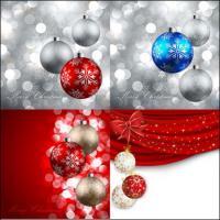 Прекрасные Рождественский бал -11--векторного материала