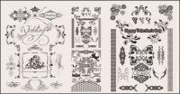 Hochzeit Spitze Muster-Vektor-material