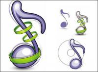 Значки музыки - вектор