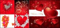 Romantique en forme de cœur - vecteur