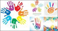 Отпечатки пальцев тема векторного материала