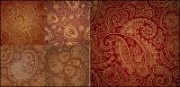 Material de vector de cinco magníficos patrón