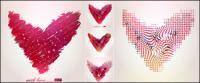 Абстрактный узор, сердце образный векторного материала