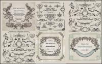 Material de vectores de patrón de encaje clásico europeo