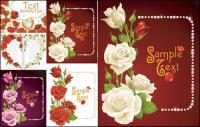 Rosas tarjetas vector material