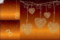 Сердце подвеска ожерелье вектор