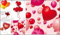 ロマンチックなハート形の気球ベクター