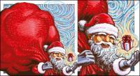 Cadeaux de Noël de vecteur père