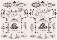 European wedding pattern vector material