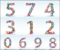 Anzahl der digital-Vektor-material