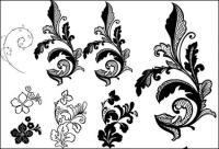 Material de fundo do lado flor padrão vector