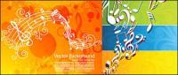 Tema musical de vectores