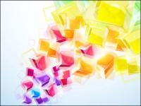 Brilhantes 3D estéreo efeitos dinâmicos figura Vector-01