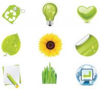 녹색 아이콘-벡터 자료