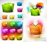 Dossier de texture de beaux cristaux - vecteur
