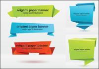 Bannière origami effet