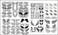 다양 한 날개 토템 벡터 소재
