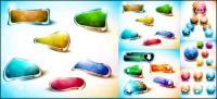 Vetor de botão colorido Dream