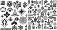 고 대 작풍 패턴-벡터 자료