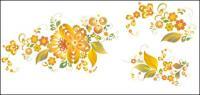 Padrão de bela flor - vector material
