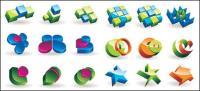 Material de vetor de ícone de gráficos tridimensionais
