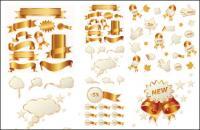 Ouro da faixa de opções e ícone de venda de Natal