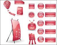 Rack de exibição de publicidade e o vetor de rótulo