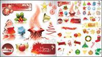 Natal elementos decorativos de vetor