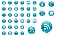 دائرة زرقاء بسيطة رمز مكافحة ناقلات المواد
