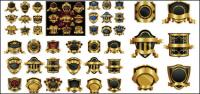 Rótulo de estilo Europeu ornamentado vector