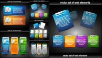 Material -2 de vetor de elementos decorativos de Web design