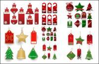 할인 레이블 벡터의 크리스마스 판매