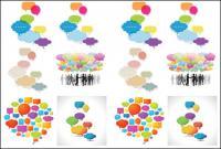Bolha de diálogo colorido vector