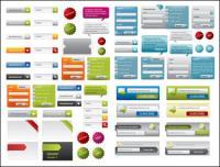 Material de vetor de uma variedade de elementos de design web