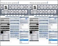 Elementos do vetor de ferramentas de Design de Interface de usuário