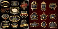Rótulo de estilo Europeu dourado Vector