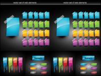 Elementos decorativos de Web Design coloridos de vetor