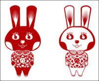 ウサギのウサギのベクトルの切削