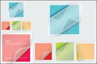 Adhesivos transparentes de vectores