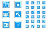 블루 벡터 기술 절묘 한 아이콘-벡터 자료